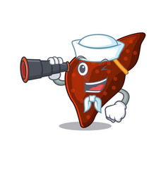 A cartoon icon human cirrhosis liver sailor vector