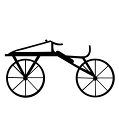 A dandy horse or draisienne old bike silhouette vector