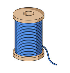 a reel of blue threadsewing or tailoring tools vector image