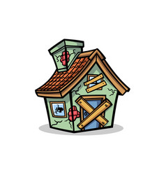Abandon house mascot design vector