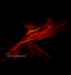 Abstract black red vector