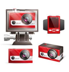 Action camera set vector