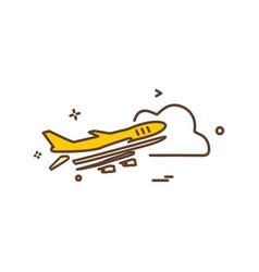 aeroplane icon design vector image