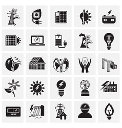 alternative energy set on squares background vector image
