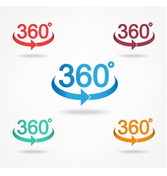 Angle 360 degrees sign icon vector