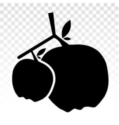 Apple fruit flat icon on a transparent background vector