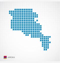 Armenia map and flag icon vector