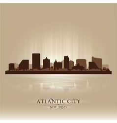 Atlantic City New Jersey skyline city silhouette vector image