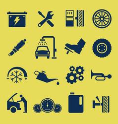 Auto car repair service icon symbol a set of car vector