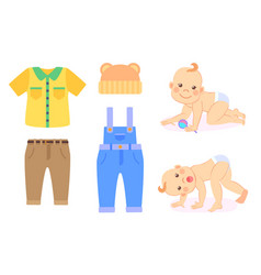 baand clothes to wear kid in diaper isolated vector image