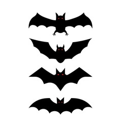 bat silhouettes - Halloween vector image