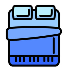 Bed mattress icon outline style vector