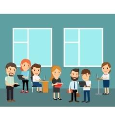 Big office cartoon vector image