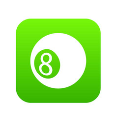 billiard ball icon green vector image