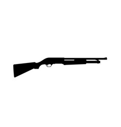 black silhouette shotgun on white background vector image