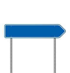Blue Directional Road Sign vector image vector image