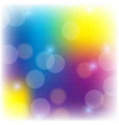 blur bubbles on colorful background vector image