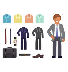 Business dress code infographics vector