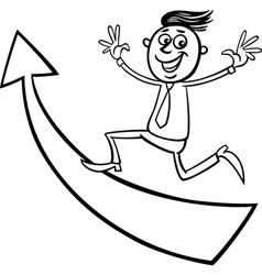 businessman with arrow cartoon vector image