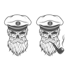 Captain Skull Two options vector image