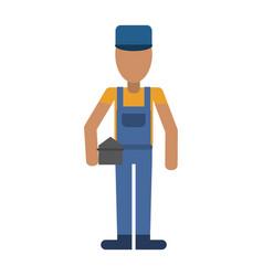 carpenter avatar full body vector image