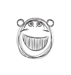 Cartoon monkey sketch vector image