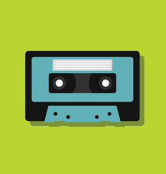 Cassette in flat style with shadow vector