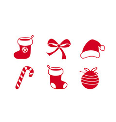 christmas icon symbol collection set lolipop vector image