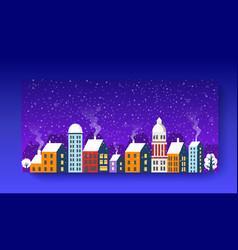 City landscape christmas vector
