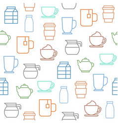 coffee seamless pattern for wallpaper or wrapping vector image