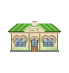 Coffee Shop Commercial Building Facade Design vector image