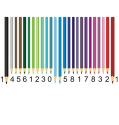 color pencil barcode vector image