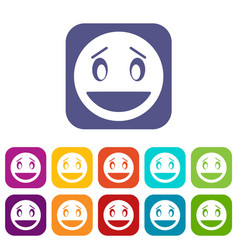 Confused emoticons set vector