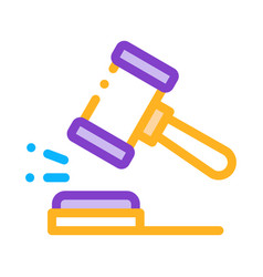 court gavel law and judgement icon vector image