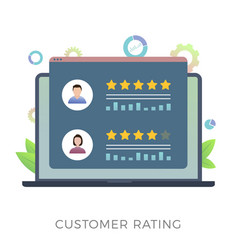 Customer rating flat icon concept vector
