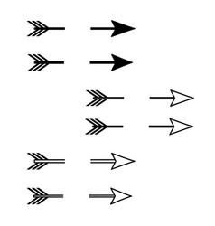 Decorative arrows collection bow arrow vector