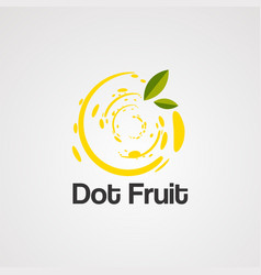 dot fruit logo icon element and template vector image