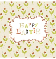 easter greeting card background vector image vector image