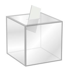 election box mockup realistic style vector image