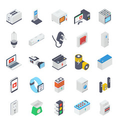 Electronic appliances isometric pack vector