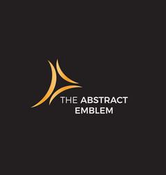 Elegant arcs isolated icon on black background vector