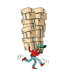 express fast shipping lot of cargo vector image