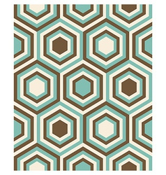 Fashion geometrical pattern with hexagons vector