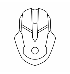 Gaming mouse icon outline style vector image