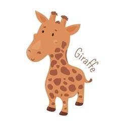 Giraffe isolated Child fun icon vector image vector image