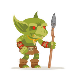 Goblin evil minion dungeon monster fantasy vector