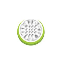 golf ball icon logo vector image