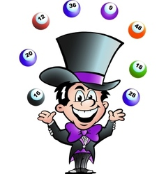 Hand-drawn of an Juggling Bingo Man vector image