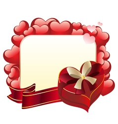 Heart shaped box with ribbon3 vector