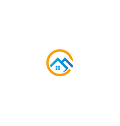 home roof realty agent business logo vector image